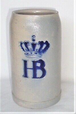 Hofbräuhaus HB  Stoneware Stein 1 L  Mug Krug Tankard Steinzeug
