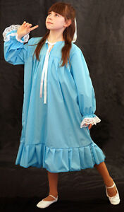 Peter-Pan-Victorian-Edwardian-BLUE-WENDY-NIGHTDRESS-Fancy-Dress-COSTUME-all-ages