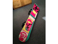 K2 Worldwide Weapon 2010 Snowboard 155 c/w K2 Uprise Auto Bindings