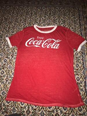 Red/White COCA COLA t shirt Large