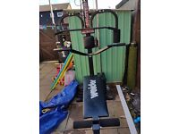 Multigym for sale 200lb of weight with it