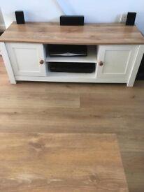 Cream and oak effect furniture