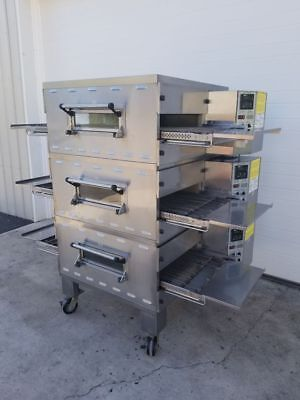 Middleby Marshall Triple Stack Ps536gs Gas Conveyor Ovens    20  Belt Width