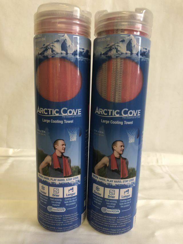 2-ARTIC COVE LARGE COOLING TOWELS NEW IN PACKAGE