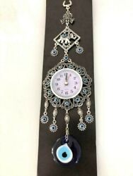Evil Eye Hamsa Wall  Lucky Eye Wall decor Clock