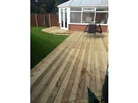 Fencing decking block paving paving artificial turf turf all groundworks