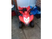 Quad bike electric ride on. Suitable for 3+