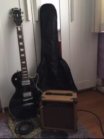 ORIGINAL AVON: ROSE MORRIS ELECTRIC GUITAR (VINTAGE). Comes complete with amplifier, strap and case.