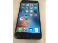 iPhone 6s Plus with cracked screen