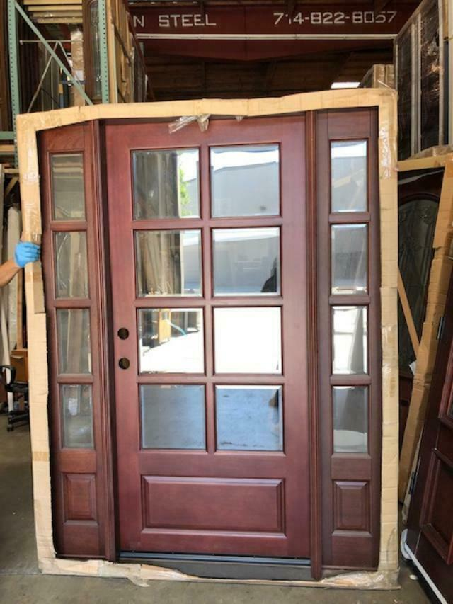 SALE!!Solid Wood Mahogany Front Unit Pre-hung &Finished TMH7