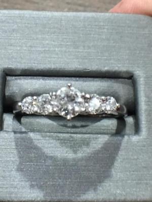 5 DIAMOND Wedding / Anniversary  1.00  carat total G-H color SI1-I1 - Wedding Anniversary Colors