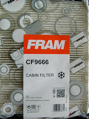 FORD FIESTA MK V 2001 on All ModelsGenuine Fram CF9666 PollenCabin FilterNew
