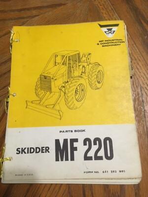 Massey Ferguson Mf220 Log Skidder Parts Manual
