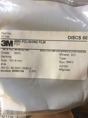 3m 498x Psa Lapping Film Polishing Film 50 Discs Per Pack Many Packs Available