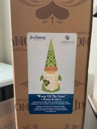 """Jim Shore Irish Gnome New for 2020 Approx 6.5"""" Tall (FREE SHIPPING)"""