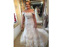 Petite wedding dress size 8-12 with corset.