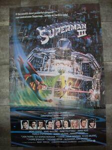 SUPERMAN III Reeve Pryor 1983 Affiche Originale USA Print 70x100 Movie Poster - France - État : Trs bon état : Objet ayant déj servi, mais qui est toujours en trs bon état. Le botier ou la pochette ne présente aucun dommage, aucune éraflure, aucune rayure, aucune fissure ni aucun trou. Pour les CD, le livret et le texte l'arrir - France