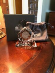 WATERFORD Crystal Clock Desk Table Vanity ABBEY Mothers Day or graduation gift