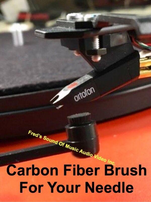 Stylus Brush Carbon Fiber Bristle Needle Cleaner Turntable Cartridge New In Pkg