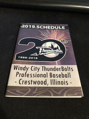 Windy City Baseball (2019 Windy City Thunderbolts Baseball Pocket Schedule)