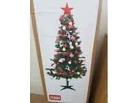 6ft Christmas tree and decoration