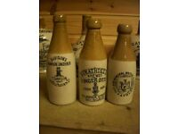 WANTED - Old pottery Ginger Beer bottles from Scotland, pot lids and cream pots.