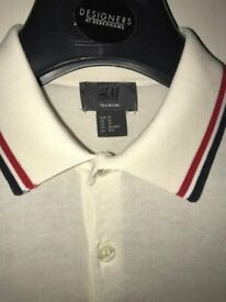 Fred Perry Polo T-Shirt, Jack Wills T-Shirt & H&M Vintage Wool Polo : All Excellent Condition