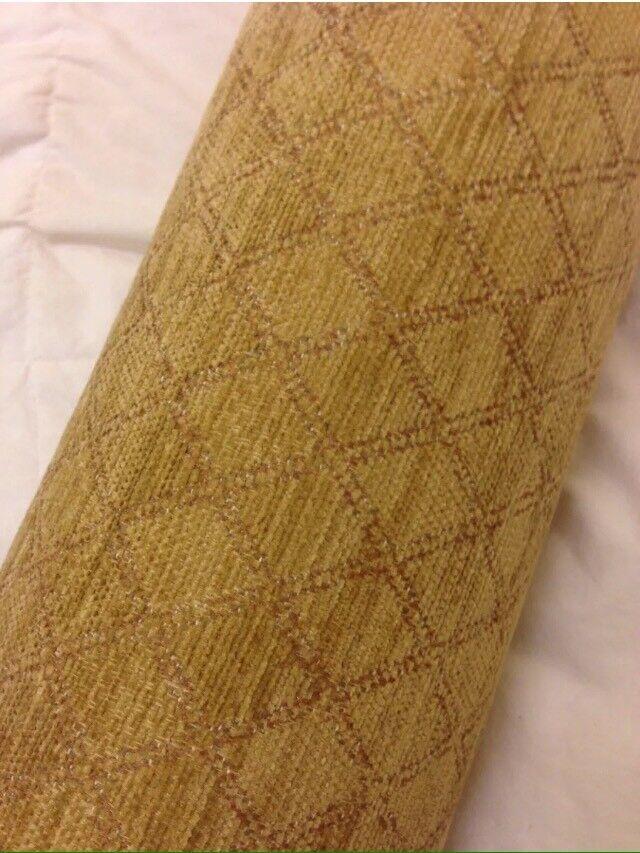 Gold diamond pattern upholstery fabric