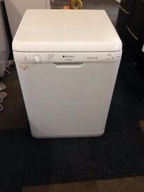 white hotpoint fullsize dishwasher