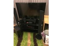 Lg flat screen tv,48',home cinema,standing speakers and tv stand