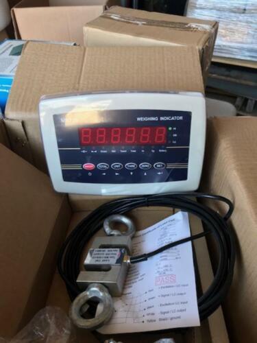 3000 LB CRANE SCALE TENSION/ COMPRESSION Calibrated 3000 LB x 0.1 LB