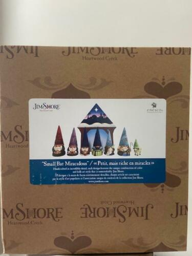 """Jim Shore Gnome Christmas Pageant 8 Piece Set """"Small but Miraculous"""" NEW 2021"""