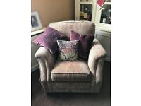 Alstons Florian Armchair in Liberty Gold medallion plus cushions