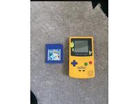 GameBoy color Pokémon edition &a Pokémon blue game