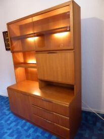 McIntosh Teak 1960s Wall Unit Display Cabinet dresser excellent condition