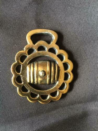 Vintage  Brass Bridal Medallion.  Barrel Pattern