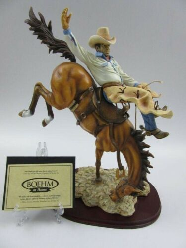 Bucking Bronco Cowboy Get Off My Back Boehm at Home Ltd Edition