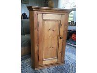 Pine corner cupboard - height 90cm - £40