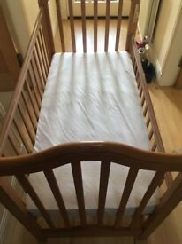 New cot bed and mattress for sale