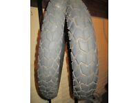 Yamaha WR 125 R 2009 Michelin Sirac Front & Rear Tyres in very good condition.