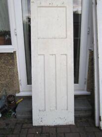 1930s Four Panels Solid Wood Doors