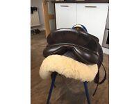 Morris and Nolan leather saddle