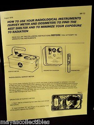 Yellow How To Use Radiological Instruments Cdv 715 750 742 Extra Info Pamphlet