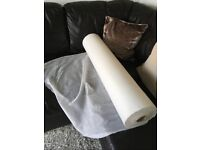 Roll of thin white material (huge amount on the roll!)