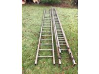 Long sturdy triple alloy ladder
