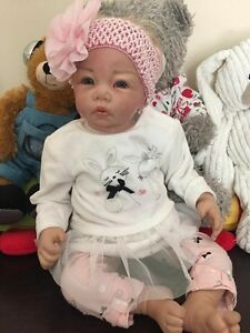 "21"" Reborn Baby Girl Doll vinyl Docklands Melbourne City Preview"