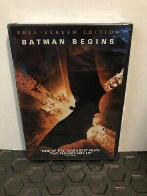 Batman Begins (DVD, 2005, Full Frame)