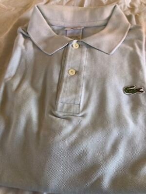 MEN'S LACOSTE LIGHT BLUE  POLO SIZE 7 XL GREAT CONDITION