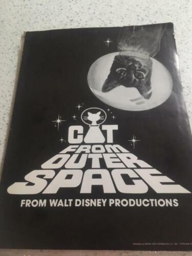 Vintage 1978 Cat from Outer Space Pressbook Walt Disney Movie Film