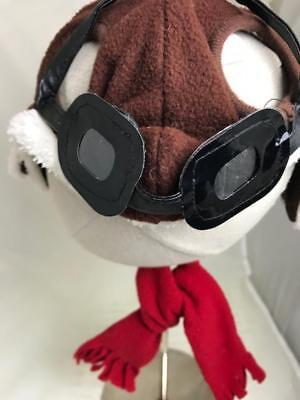 Aviator hat, goggles & red scarf-dog costume,Size Sm/Med. Halloween/anytime - Kostüm Aviator Goggles